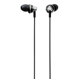 Product image of Panasonic RP-HJE355 ErgoFit In-Ear Headphones (Black) with Noise Reduction