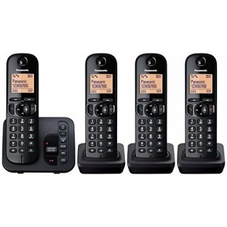 Product image of Panasonic KX-TGC224EB Cordless DECT Quad Phone with Caller ID 14 Hours Talk Time Phonebook Memory 200