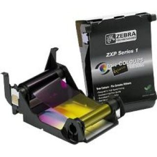 Product image of Zebra Load-N-Go (100 Prints per Roll) Colour Ribbon for ZXP Series 1 YMCKO