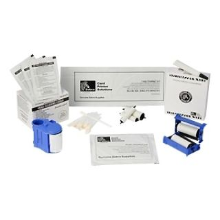 Product image of Zebra Premier Cleaning Kit - 25 Standard and 25 Long Cleaning Cards