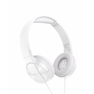 Product image of PIONEER SE-MJ503T-W Overhead Headphones with cushioned headband  foldable design  with In-line Mic.