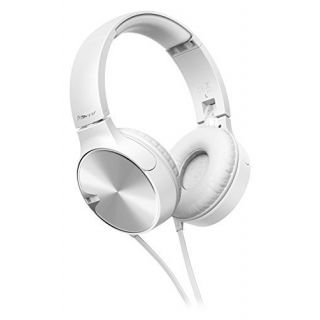 Product image of PIONEER SE-MJ722T-W 40mm Drivers with Chamber Construction  Foldable design and In-Line Mic.