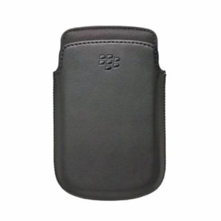 Product image of BlackBerry Leather Pocket (Black) for 9720