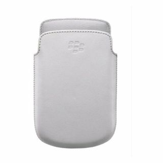 Product image of BlackBerry Leather Pocket (White) for 9720