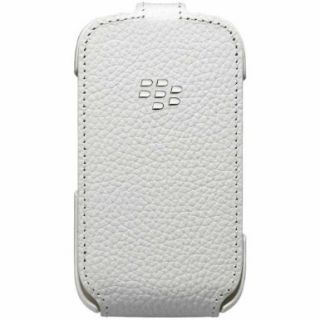 Product image of RIM - BLACKBERRY ACCESSORY BLACKBERRY CURVE 9220/9310/9320 LEATHER FLIP SHELL WHITE