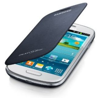 Product image of Samsung Flip Cover (Blue) for Galaxy S III Mini Smartphone