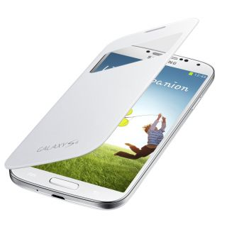 Product image of Samsung S View Cover (White) for Galaxy S4 Smartphone