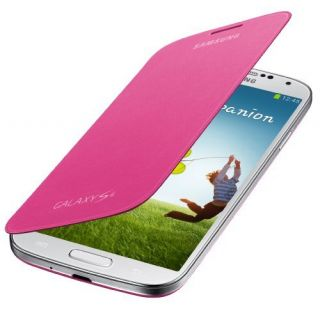 Product image of Samsung EF-FI950B Flip Cover (Pink) for Galaxy S4 Smartphone