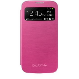 Product image of Samsung S View Cover (Pink) for Galaxy S4 Smartphone