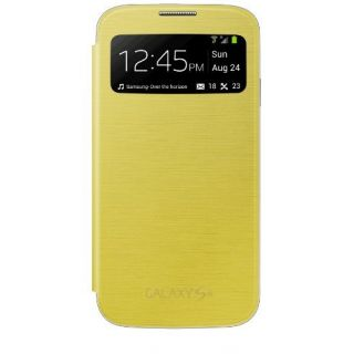 Product image of Samsung S View Cover (Yellow) for Galaxy S4 Smartphone