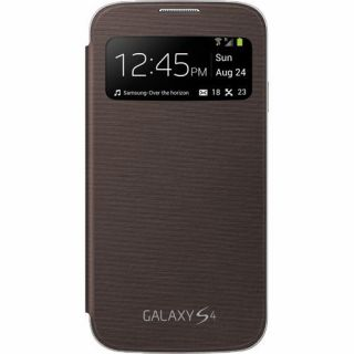 Product image of Samsung S View Cover (Brown) for Galaxy S4 Smartphone