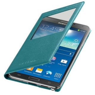 Product image of Samsung EF-CN900B S View Cover (Mint Blue) for Galaxy Note 3 Smartphone