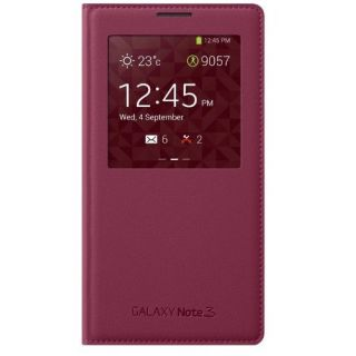 Product image of Samsung EF-CN900B S View Cover (Magenta) for Galaxy Note 3 Smartphone