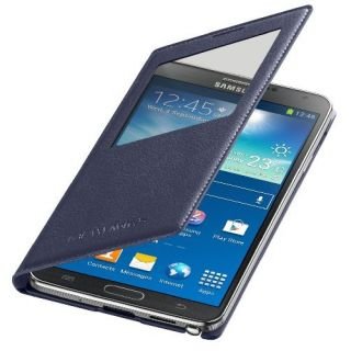 Product image of Samsung EF-CN900B S View Cover (Indigo Blue) for Galaxy Note 3 Smartphone