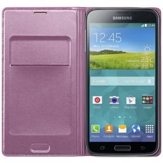Product image of Samsung EF-WG900B Flip Wallet (Pink) for Galaxy S5 Smartphone