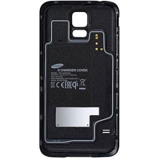 Product image of Samsung EP-CG900IBEGWW Wireless Charging Cover (Black) for Galaxy S5 Smartphone