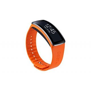 Product image of SAMSUNG ET-SR350XOEGWW Samsung Basic Strap for Gear Fit (Long) - Orange