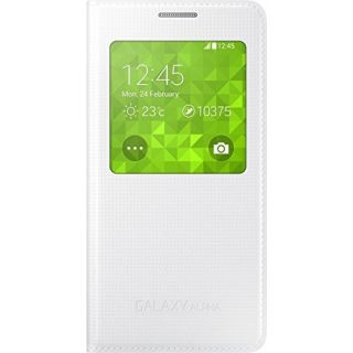 Product image of Samsung EF-CG850B S View Cover (White) for Galaxy ALPHA Smartphone