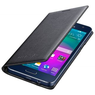 Product image of Samsung EF-FA300B Flip Cover (Charcoal Black) for Galaxy A3 Smartphone