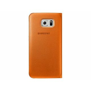 Product image of Samsung EF-WG920P Flip Wallet Cover (Orange) for Galaxy S6 Smartphone