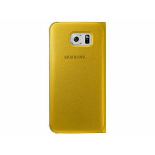 Product image of Samsung EF-WG920P Flip Wallet Cover (Yellow) for Galaxy S6 Smartphone