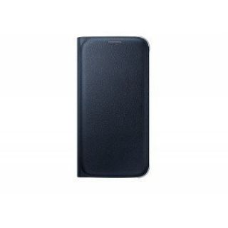 Product image of Samsung EF-WG925P Flip Wallet Cover (Black) for Galaxy S6 Edge Smartphone