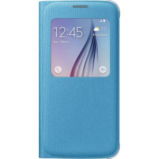 Product image of Samsung EF-CG920B Fabric S View Cover (Blue) for Galaxy S6 Smartphone