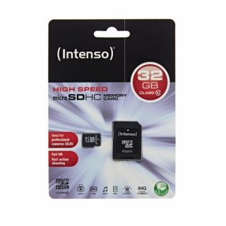 Product image of Intenso (32GB) Class 10 Micro SC Card with Adapter