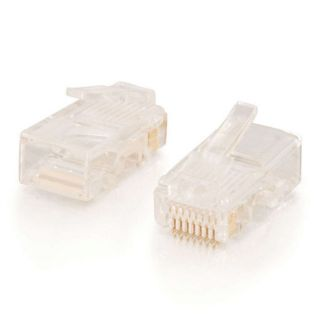 Product image of C2G RJ45 CAT5e 8x8 Modular Plugs for Round Stranded Cable (50 Pack)