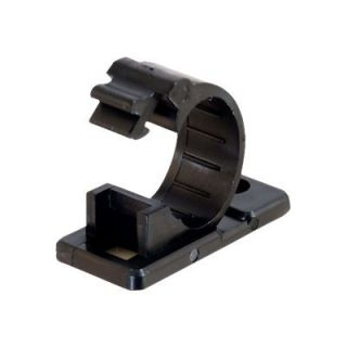 Product image of C2G 17mm 50 Pack Adhesive Clamps (Black)