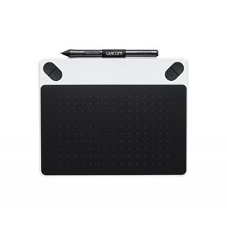 Product image of Wacom Intuos Small Draw Tablet (White) and Pen (Black)