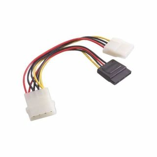 Product image of Videk 4 Pin Power to Dual 15 Pin SATA Splitter Cable (20cm)