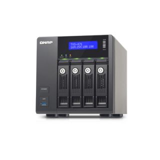 Product image of QNAP TVS-471 Tower (4-Bay) Network Attached Storage (NAS) Core i3 (4150) 3.5GHz 4GB QTS 4.1 LAN/USB/HDMI (Black)