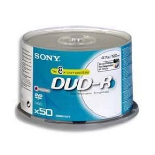 Product image of Sony DVD+R 4.7GB 120min 16x Spindle 50 Pack