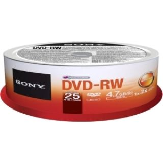 Product image of Sony MPE DVD-RW rewritable 4x Spindle 25 Pack