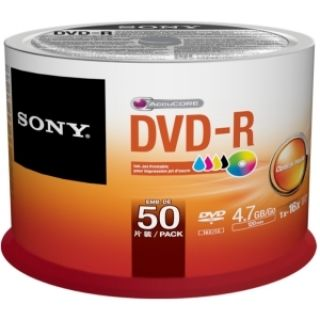 Product image of Sony DVD-R 4.7 GB (120min) 16x (Pack of 50)