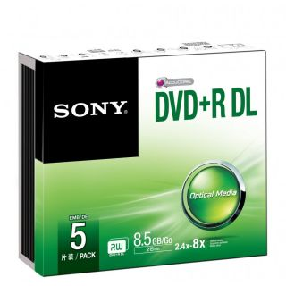 Product image of SONY - RME RETAIL MEDIA DVD+R  DOUB LAYER SLIM CASE 5PACK