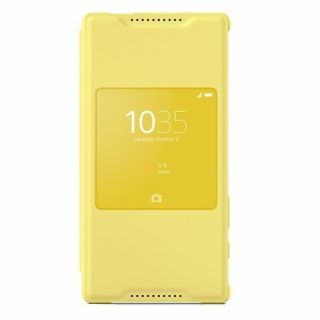 Product image of SONY 1296-8975 Sony SCR44 Smart Style-Up Cover Xperia Z5 Compact Yellow