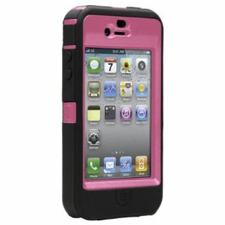 Product image of OtterBox Defender Series Case (Hot Pink/Black) for Apple iPhone 4