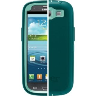 Product image of OtterBox Defender Series Case (Reflection: Aqua Blue/Mineral Blue) for Samsung Galaxy S3 Smartphone