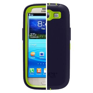 Product image of OtterBox Defender Series Case (Punked: Glow Green/Lake Blue) for Samsung Galaxy S3 Smartphone