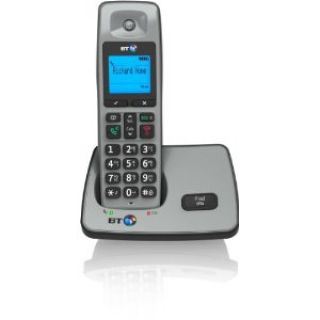 Product image of BT 2000 DECT Cordless Telephone Backlit Display Speaker Single-Pack (Silver/Black)