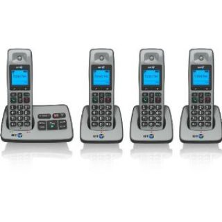 Product image of BT 2500 DECT Cordless Telephone Backlit Display Speaker Answering Machine Quad-Pack (Silver)