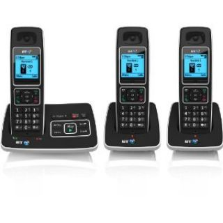 Product image of BT 6500 DECT Cordless Telephone Backlit Display Speaker Answering Machine Trio-Pack (Black)