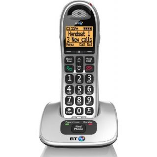 Product image of BT 4000 Cordless Telephone Big Button DECT Handsfree Silver/Black (Single)