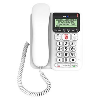 Product image of BT Decor 2600 Corded Telephone Answering Machine Call-Blocker Handsfree (White)