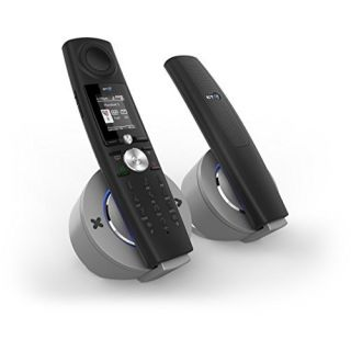 Product image of BT Halo Cordless Telephone Colour Screen Answer-Machine Speaker Call-Blocker Twin-Pack (Black/Silver)