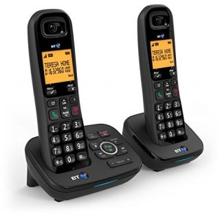 Product image of BT 1700 DECT Cordless Telephone Backlit Display Nuisance Call Blocker Answering Machine Twin-Pack (Black)