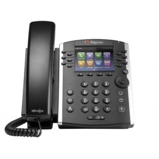 Product image of Polycom VVX 400 12-Line Gigabit Ethernet Business Media Phone with HD Voice. PoE