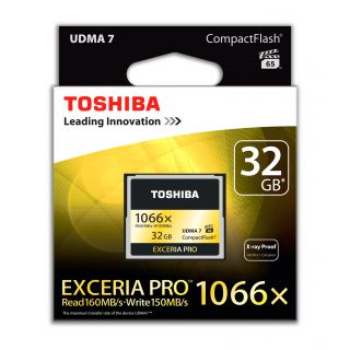 Product image of Toshiba Exceria Pro (32GB) Compact Flash Card